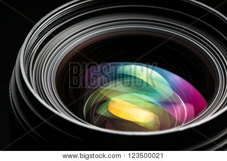 Professional modern DSLR camera llense ow key image - Modern DSLR camera lense with a very wide aper