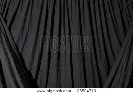 Draped Black Background Fabric