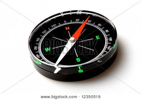 compass on the white background with soft shadow