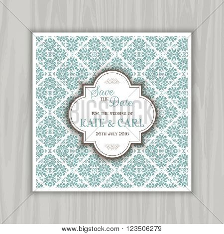 Decorative design for save the date invitation