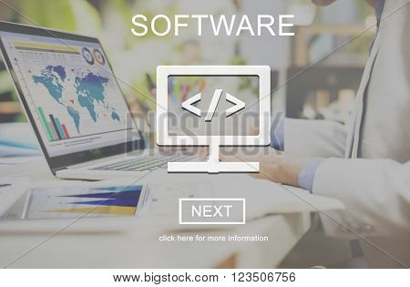 Software Business Data Development Digital Concept