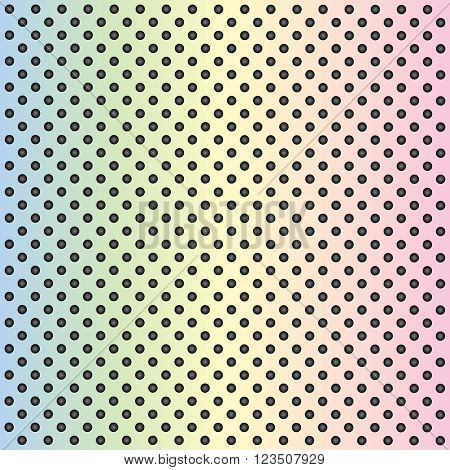 High resolution concept conceptual colorful or rainbow metal stainless steel aluminum perforated pattern texture mesh background