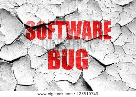 Grunge cracked Software bug background with some soft smooth lines