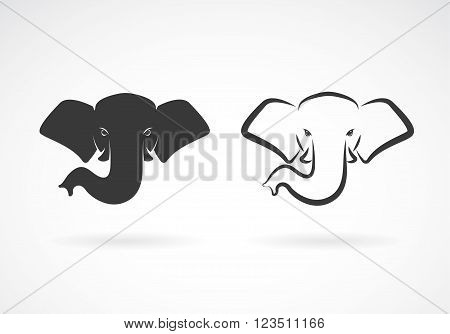 Vector image of an elephant head design on a white background. Animals