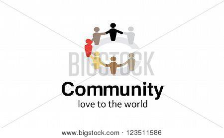 Community Logo People Team Symbolic Design Illustration