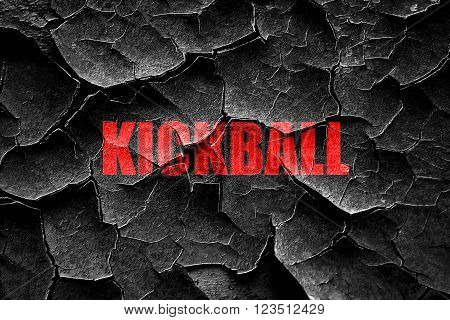 Grunge cracked kickball sign background with some soft smooth lines