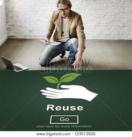 Recycle Reuse Reduce Ecosystem Environment Concept