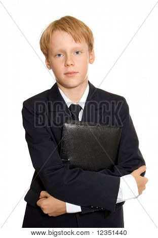 boy in a suit. Isolated on white