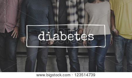 Diabetes Symptoms Diagnosis Medical Disease Concept