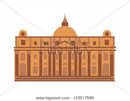 Royal palace at Madrid Spain architecture building landmark vector.