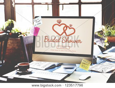Bridal Shower Bachelaureate Party Celebration Marriage Concept