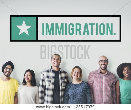 Immigration Ethnicity Diverse Population Friends Concept