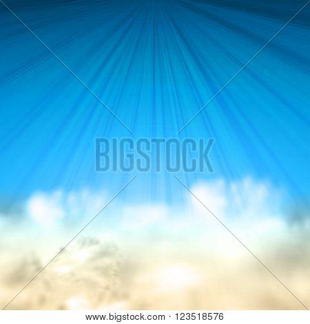 Summer sky background illustration easy all editable