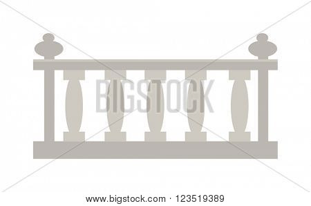 Vintage railing made of stone or gypsum architectural metal vector.