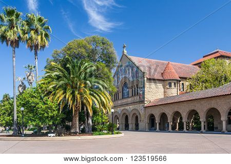Palo Alto, Ca/usa - Circa June 2011: Memorial Church In Main Quad Of Stanford University Campus In P