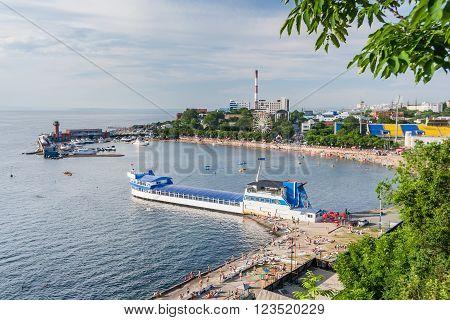 Vladivostok, Russia - Circa July 2012: Seawalk Naberezhnaya In Vladivostok,  Russia