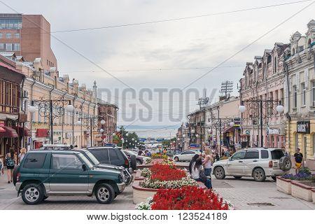Vladivostok, Russia - Circa August 2012: People, Roads And Streets Of Vladivostok,  Russia