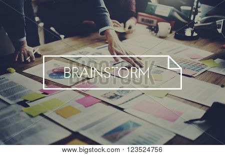 Brainstorm Brainstorming Thinking Meeting Planning Sharing Concept