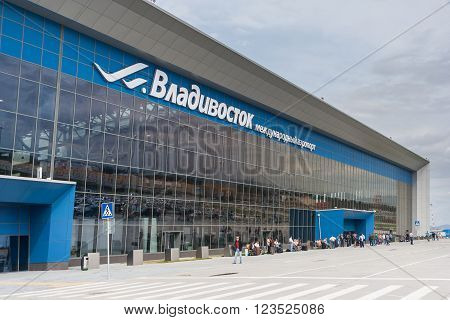Vladivostok, Russia - Circa October 2015: Knevichi - Vladivostok International Airport, Vvo,  Russia