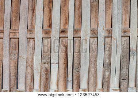 Close up bamboo fence background, stock photo