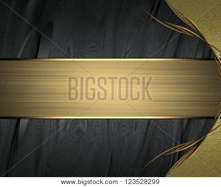 Black texture with patterns on nameplate. Template for design. copy space for ad brochure or announcement invitation, abstract background.