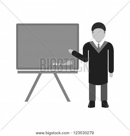 Professor, male, teacher icon vector image. Can also be used for schooling. Suitable for use on web apps, mobile apps and print media.