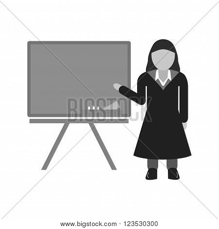 Professor, female, teacher icon vector image. Can also be used for schooling. Suitable for use on web apps, mobile apps and print media.