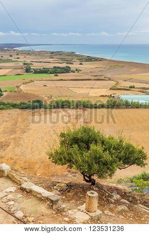 Lanscape at ancient Greek city Kourion, near Limassol, Cyprus