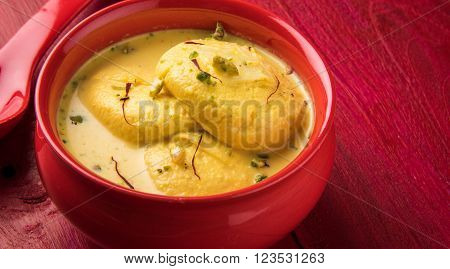 traditional rasmalai indian dessert, indian sweet rasmalai or ras malai, famous bengali sweet
