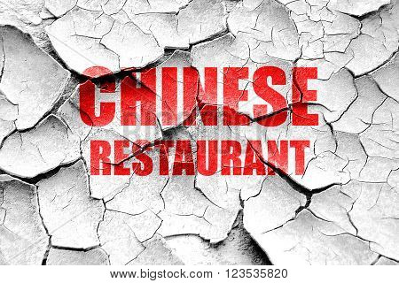 Grunge cracked Delicious chines restaurant with some smooth lines