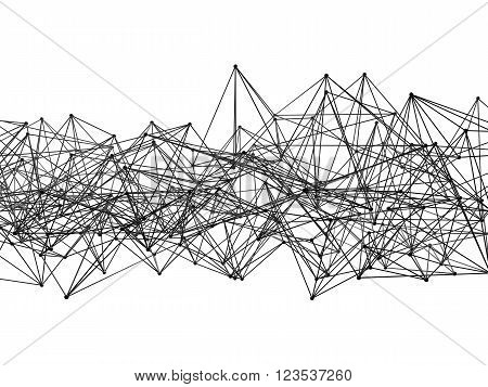 Abstract Mesh Structure Isolated On White, 3D