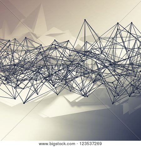 Abstract Futuristic Polygonal Structures 3 D