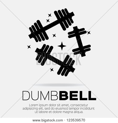 Dumbbel set . Sports equipment element icon.