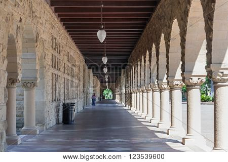Palo Alto, Ca/usa - Circa June 2011: Galleries Of Stanford University Campus In Palo Alto,  Californ