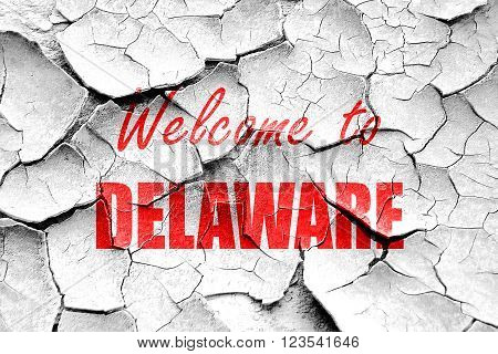 Grunge cracked Welcome to delaware with some smooth lines
