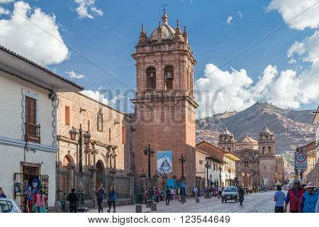 Cusco, Peru - Circa June 2015: Saint Clare Church In Cusco,  Peru