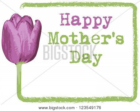 Happy Mothers Day background, greeting card for Mothers Day, vector illustration