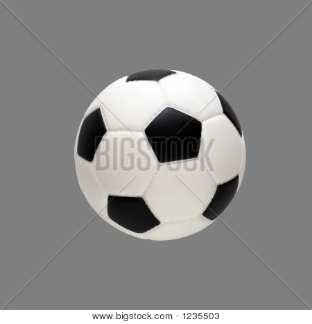 Soccer Ball Isolated On Gray