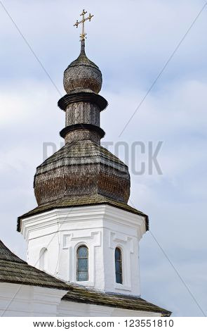 Wooden dome of St. Michael's Monastery in Kiev