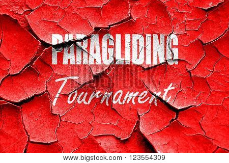 Grunge cracked paragliding sign background with some soft smooth lines