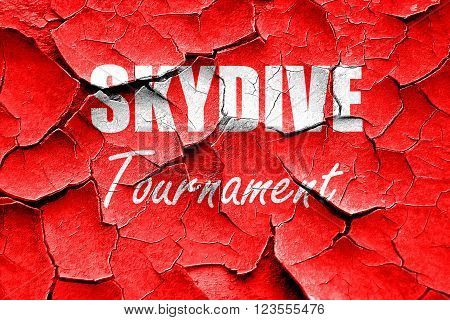 Grunge cracked skydive sign background with some soft smooth lines