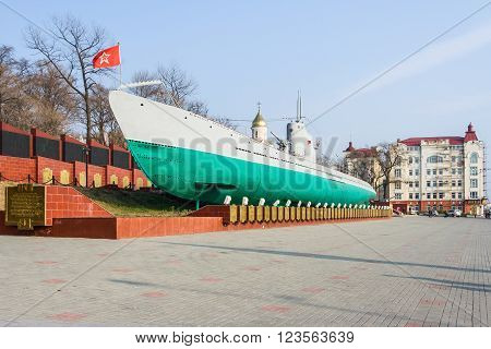 Vladivostok, Russia - Circa October 2015: Second World War S-56 Submarine Monument Museum In Vladivo
