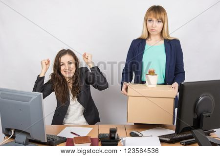 Office Worker Rejoices That Fired Colleague