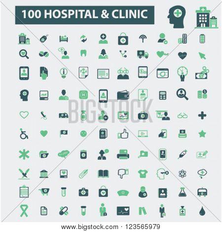 hospital clinic icons