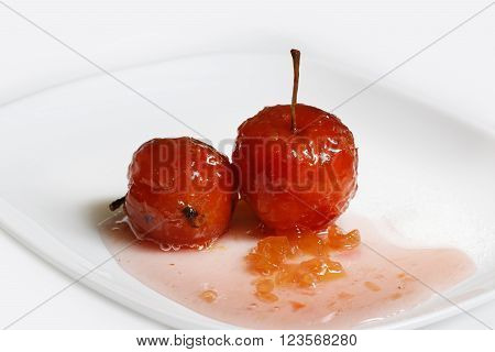 Red Apples In Rose Syrup