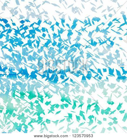 Blue Pencil Strokes - Abstract Graphic Design - Hand Drawn Illustration