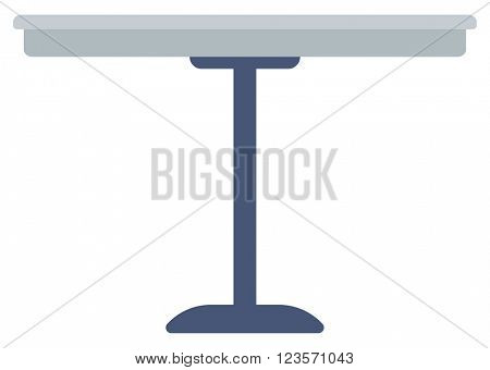 Round bar table.