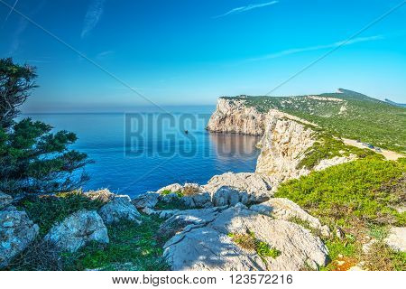 white rocks in Capo Caccia in Sardinia