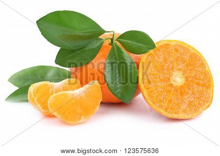 Mandarin Orange Mandarins Fruit Fruits Tangerine Tangerines Isolated