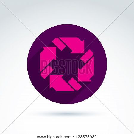 Vector Loop Sign, Circulation And Rotation Icon Isolated On White Background. Abstract Design Elemen